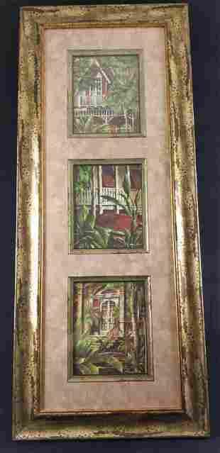 Framed Key West Collage Three Prints Steve Butler
