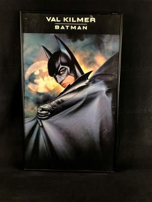 Vintage Framed Val Kilmer Batman Movie Poster