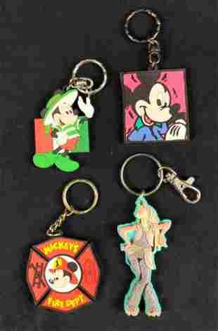 Four Disney Mickey Mouse Star Wars Keychains