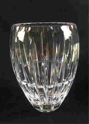 Clear Cut Crystal Vase