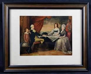 The Washington Family By Edward Savage Art Print