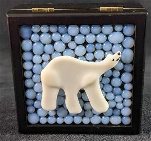 Patty Corapi Mini Jewelry Trinket Box Polar Bear