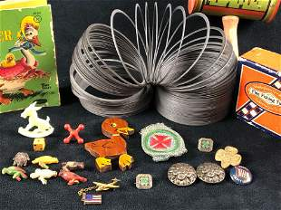 Vintage Lot Of Mixed Children's Toys & Advertising