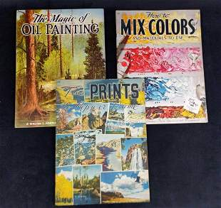 3 Vintage Magic Of Painting Books Oil Pants Mixing