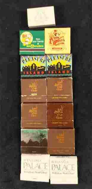 13 Vintage Walt Disney World And Orlando Matchbooks