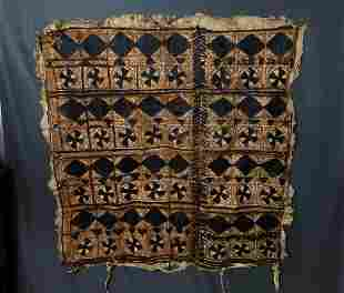 Vintage Unique African Tanned Hand Decorated Painted