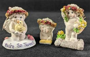 """Three Dreamciles Baby Figurines (1) """"My First Reader"""""""