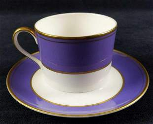 Retired Fine China Violet By Mikasa Cup Saurcers