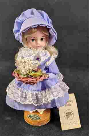 Bradley Dolls Miss Amethyst February Birthstone Doll