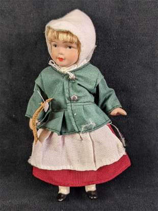 Springford Porcelain Peasant Girl Doll
