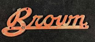 Vintage BROWN Badge Big Rig Semi Truck Trailer
