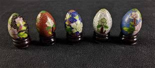 Mini Chinese Cloisonne Egg Set