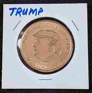 Donald J. Trump Copper Coin 45th President Coin