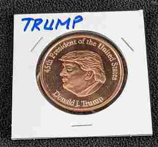 Donald Trump 45th President Coin Copper Coin