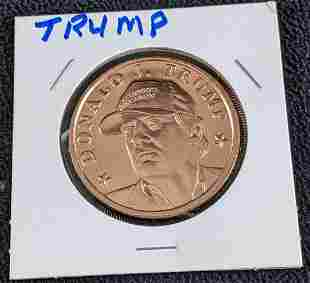 Donald J. Trump Maga Hat Copper Coin