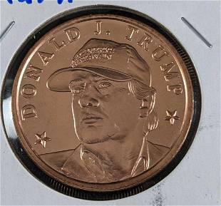 Donald J. Trump Copper Coin Make America Great Hat