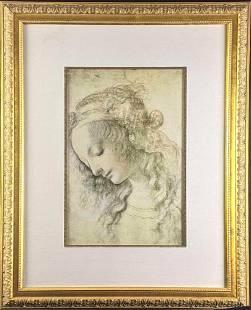 Leonardo da Vinci Framed Print Woman's Head