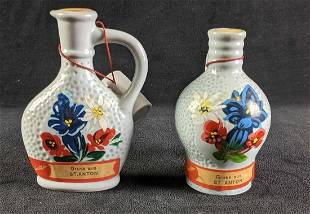 Small Vintage Austrian Painted Bottles