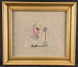 Needle Point Folk Artwork