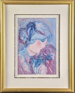 Barbara A Wood Vintage Limited Edition Lithograph