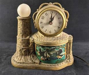 United Clock Illuminated Motion Lighthouse Clock