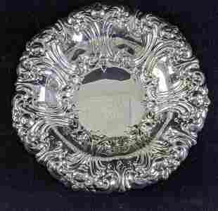 Gorham Silver Plate Floral Scalloped Edge