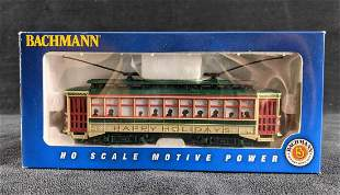Bachmann HO Scale Christmas Trolley Model Train