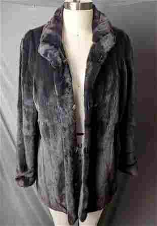 Black Mink Fur Coat Soft Coat Real Fur Gartenhaus