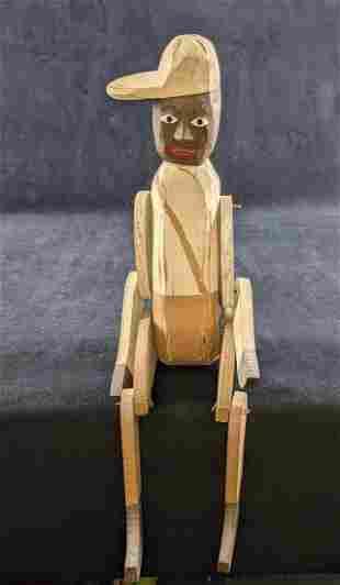 Vintage Folk Art Wooden Doll Fairfield La Habra