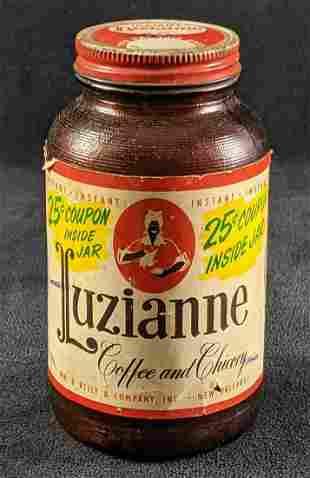 Vintage Luzianne Instant Coffee Jar