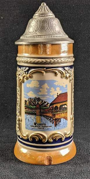 Beer Stein With Luzern Water Tower Image
