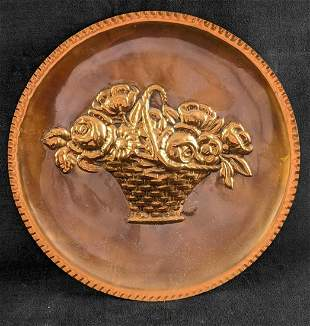 Decorative Copper Plate Made in Italy