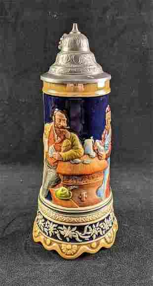 Music Box Lidded Beer Stein