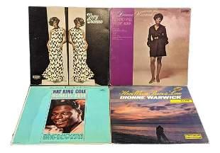 Vinyl LP Records Nat King Cole & Dionne Warwick
