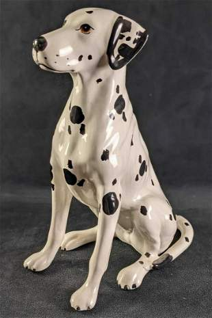 Vintage Fine China Dalmatian Dog Figurine