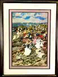 Randarquet Print of Crowded Beach