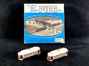 """Vintage 47 Piece """"Ho"""" gauge Pier Set and (2) Nob Hill"""