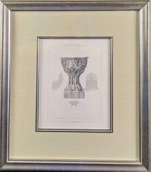 Framed Page from Architectural Ornaments of the Middle