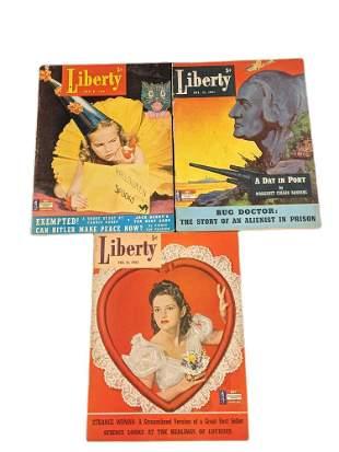 Three Vintage Liberty Magazines