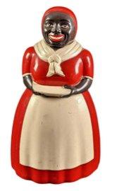 Vintage Aunt Jemima Plastic Cookie Jar Black Americana
