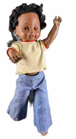 Vintage Shindana Black African American Girl Doll