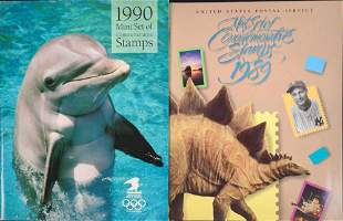 1989 1990 Mint Set Of Commemorative Stamps And Books US