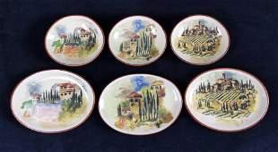 Williams Sonoma Ceramic Mini Plates Lot Of Six