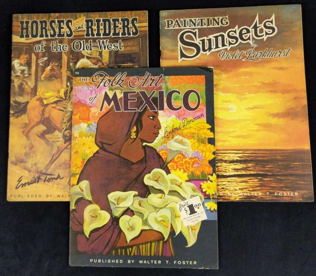 3 Vintage How To Paint And Draw Books Horses Sun