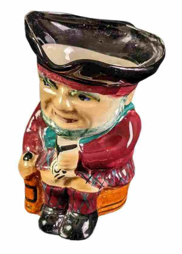 Vintage Ceramic Toby Mug Pirate Flower Pot