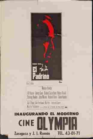 Original Godfather Italian Window Card Poster 1972