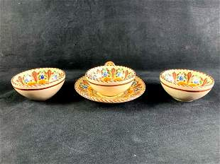 Set of (4) A.H. Puente Spanish Dishes Lot #1