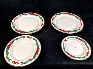 Lot of Christmas Plates Dining and Decorative