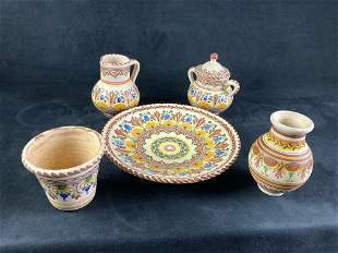 Set of Puente Pottery Small