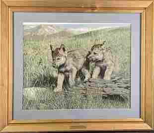 Framed LE Signed Charles Frace Timberwolves Pals Print
